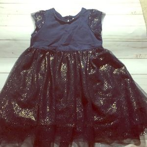💜Hanna Andersson Navy and Gold Dress PERFECT